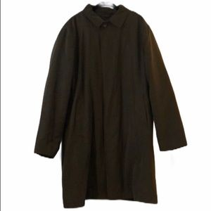 Dark Green London Fog Trench Coat